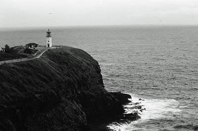 Photograph - Kilauea Lighthouse 02 - Sfx 200 Bw - Kauai, Hawaii by Pamela Critchlow