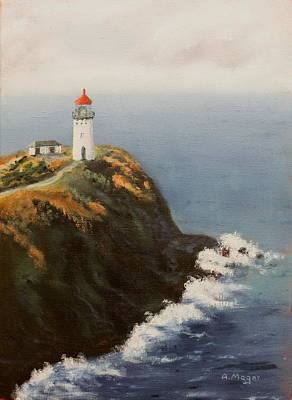 Painting - Kilauea Lighthouse by Alan Mager