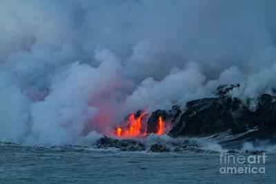 Photograph - Kilauea Meets The Sea 1 by Daniel Knighton