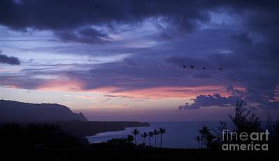 Kilauea Sunset Art Print