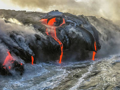 Kilauea Volcano Hawaii Art Print