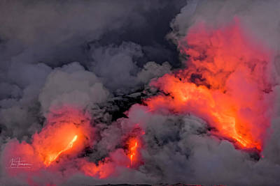 Grace Kelly - Lava Flowing Into the Ocean 5 by Jim Thompson