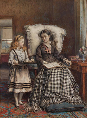 Kilburne The Nursemaid Art Print
