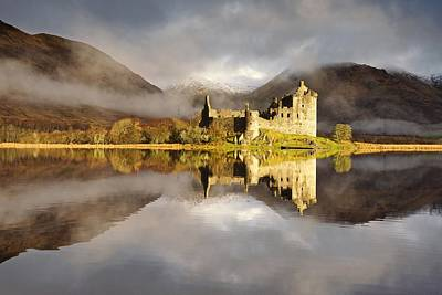 Photograph - Kilchurn Castle Reflected by Stephen Taylor