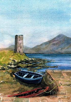 Painting - F 901 Kildavnet Harbour, Achill, Mayo by Val Byrne