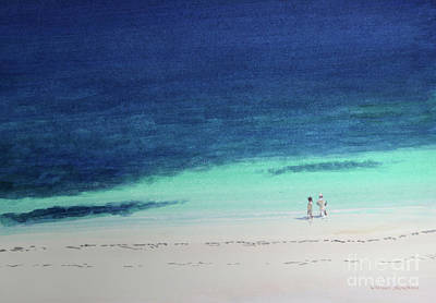 African Resort Painting - Kilifi Beach by Lincoln Seligman