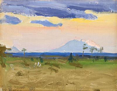 Painting - Kilima-ndjaro, 22 Vi.1909 by Akseli Gallen-Kallela