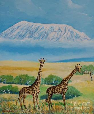 Painting - Kilimandjaro by Jean Pierre Bergoeing
