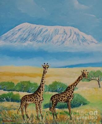 Painting - Kilimandjaro by Jean Pierre Bergoeing