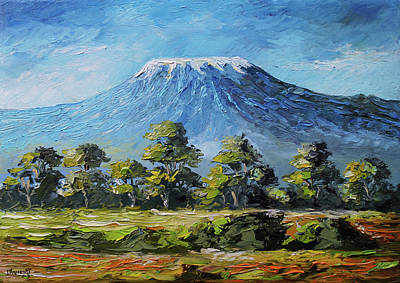 Painting - Kilimanjaro Morning by Anthony Mwangi