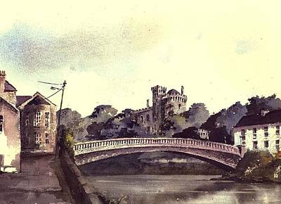 Painting - Kilkenny Castle On The Nore River. by Val Byrne
