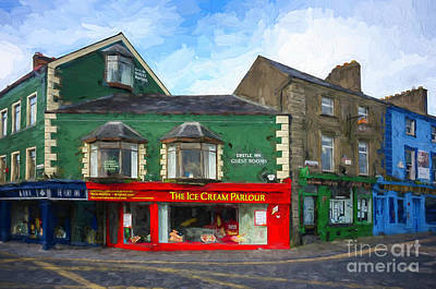 Photograph - Kilkenny Ice Cream Parlour - Painterly by Les Palenik