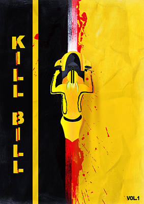 Digital Art - Kill Bill Minimalistic Alternative Movie Poster by IamLoudness Studio