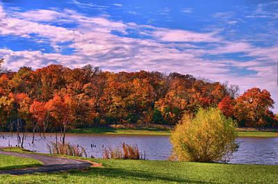 Photograph - Kill Creek Park Fall Foliage by Tim McCullough