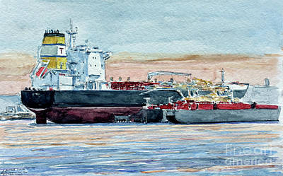 Tanker Wall Art - Painting - Kill Van Kull, Bayonne by Anthony Butera