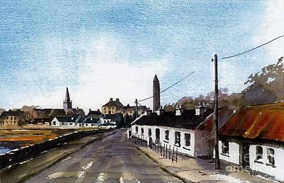 Painting - Killala Village Mayo by Val Byrne