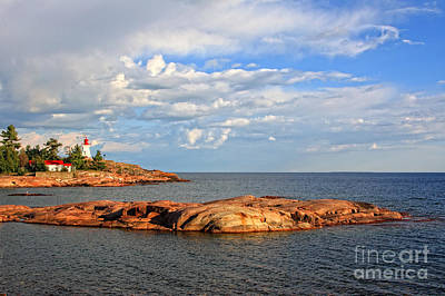 Photograph - Killarney East Lighthouse Georgian Bay by Charline Xia