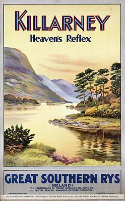 Royalty-Free and Rights-Managed Images - Killarney Heavens Park, Ireland - Great Southern Railways - Retro travel Poster - Vintage Poster by Studio Grafiikka
