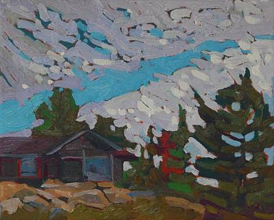Painting - Killarney Mountain Lodge Chalet by Phil Chadwick
