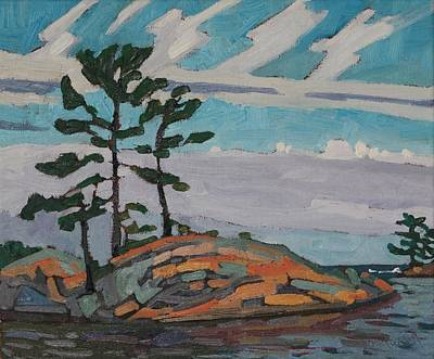 Painting - Killarney Point Flagged Pines by Phil Chadwick