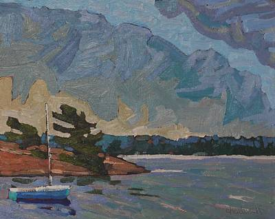 Painting - Killbear Flagged Tree Point by Phil Chadwick