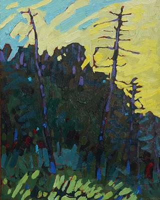 Painting - Killbear Lookout Point Sunrise by Phil Chadwick