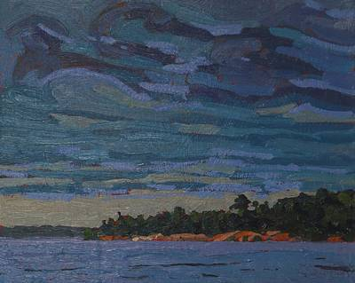 Painting - Killbear Morning Altocumulus by Phil Chadwick