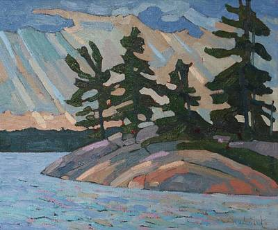 Painting - Killbear Pines And Morning Crepuscular Rays by Phil Chadwick