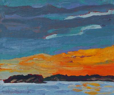 Painting - Killbear Sunset Across The Twin Points by Phil Chadwick