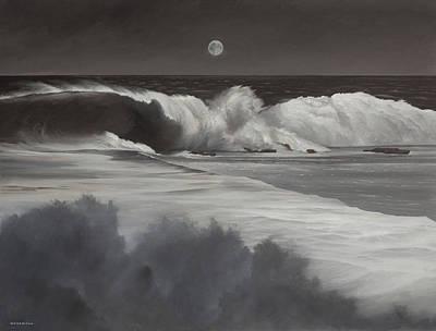 Painting - Killer Dana Moonset by Cliff Wassmann
