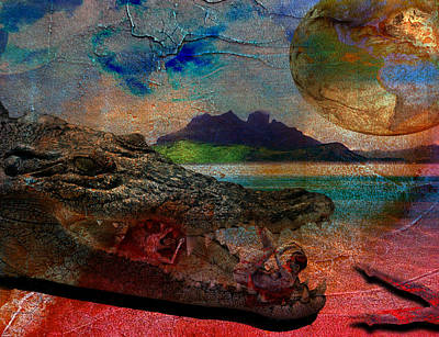 Crocodile Mixed Media - Killer Instinct by Solomon Barroa