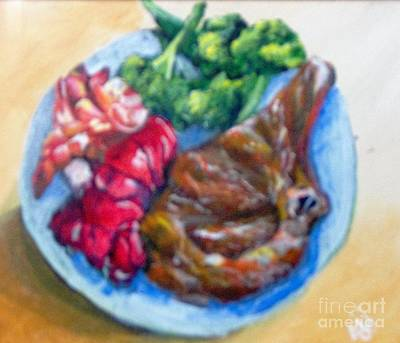 Broccoli Painting - Killer Meal by Saundra Johnson