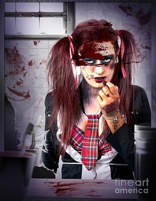Killer School Girl In A Murder Cover Up Art Print by Jorgo Photography - Wall Art Gallery