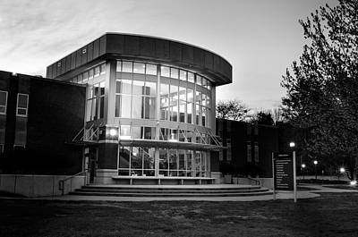 Photograph - Killian Annex At Night In Black And White by Greg Mimbs