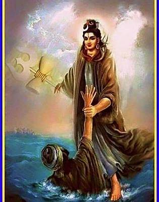 Lord shiva paintings fine art america lord shiva painting killing evil man by lord shiva voltagebd Image collections