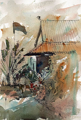 Painting - Killing Fields Museum Cambodia  by Gaston McKenzie