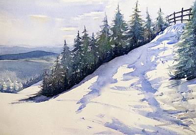 Ski Painting - Killington by Max Good