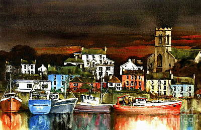 Painting - Killybegs Harbour, Donegal. by Val Byrne