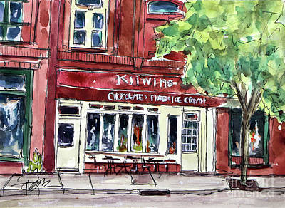 Franklin Tennessee Painting - Kilwins On Main by Tim Ross