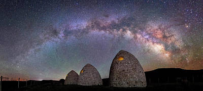 Photograph - Kilns Under The Milky Way by Michael Ash