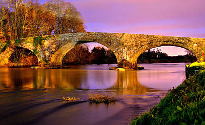 Kilsheelan Bridge At Night Art Print