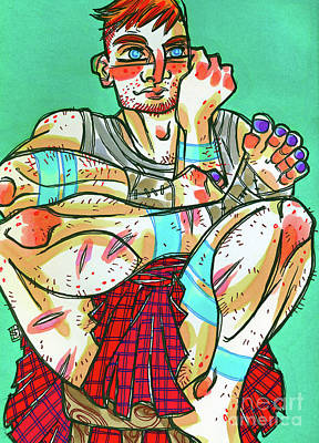 Drawing - Kilt No Sporan by Shannon Hedges
