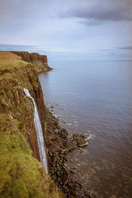 Photograph - Kilt Rock And Waterfall Isle Of Skye by Alex Saunders