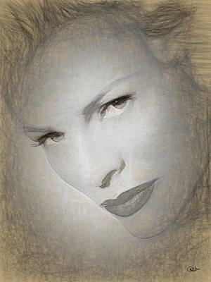 Kim Basinger Digital Art - Kim Basinger Drawing by Quim Abella