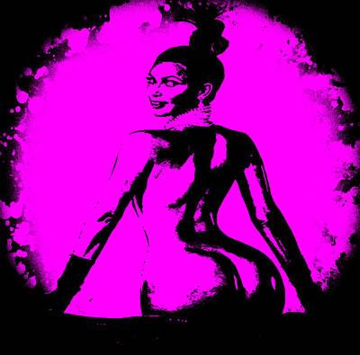 Kim Kardashian Digital Art - Kim Kardashian Swollen1a by Brian Reaves