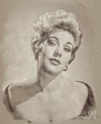 Musicians Drawings Rights Managed Images - Kim Novak Hollywood Actress Royalty-Free Image by Esoterica Art Agency