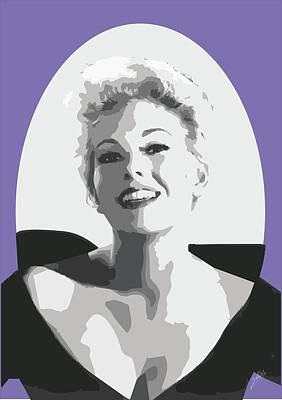 Kim Drawing - Kim Novak by Quim Abella