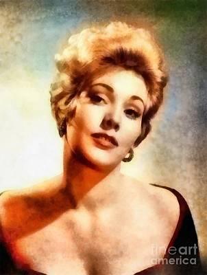 Kim Novak, Vintage Hollywood Actress Art Print by Frank Falcon