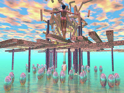 Digital Art - Kim Rising by Dave Martsolf