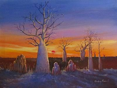 Kimberley Boab Trees At Sunset Art Print